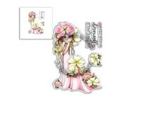 Polkadoodles Primrose Darling Bud Clear Stamps (PD8042)