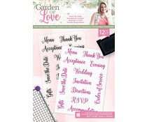 Crafter's Companion Garden of Love Save the Date Clear Stamps (S-GOL-ST-SAVE)