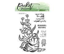 Picket Fence Studios Whelk Shell Scene Clear Stamps (OC-115)