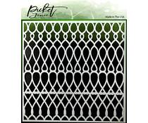 Picket Fence Studios Knots Scales Stencil (SC-172)