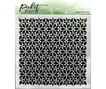 Picket Fence Studios Flowers Stencil (SC-161)