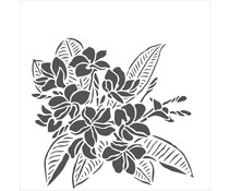 The Crafter's Workshop Plumeria 6x6 Inch Stencil (TCW914s)