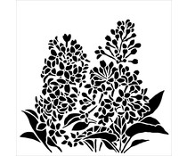 The Crafter's Workshop Lilacs 6x6 Inch Stencil (TCW913s)
