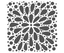 The Crafter's Workshop Explosion 6x6 Inch Stencil (TCW884s)