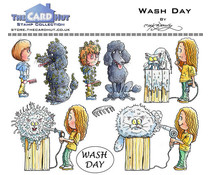 The Card Hut Wash Day Clear Stamps (MBPWD)