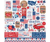Echo Park America 12x12 Inch Element Sticker (AM213014)