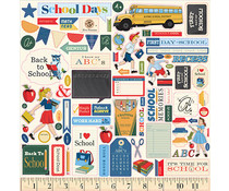 Carta Bella School Days 12x12 Inch Element Sticker (CBDS118014)