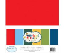 Carta Bella School Days 12x12 Inch Coordinating Solids Paper Pack (CBDS118015)