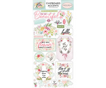 Carta Bella Flora No.3 6x13 Inch Chipboard Accents (CBF117021)
