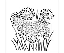 The Crafter's Workshop Onion Blossoms 6x6 Inch Stencil (TCW726s)