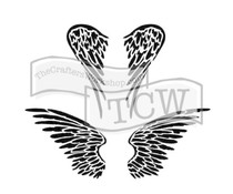 The Crafter's Workshop Angel Wings 6x6 Inch Stencil (TCW616s)