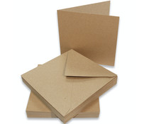 Craft UK Cards & Envelopes 6x6 Inch Kraft (CUK2047)