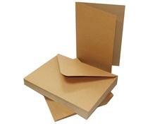 Craft UK Cards & Envelopes 5x7 Inch Kraft (CUK2048)