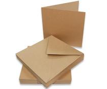 Craft UK Cards & Envelopes 5x5 Inch Kraft (CUK2050)