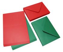 Craft UK Cards & Envelopes C6 Red & Green (CUK2062)