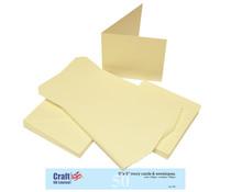Craft UK Cards & Envelopes 5x5 Inch Ivory (CUK245)