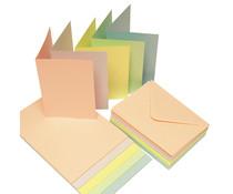 Craft UK Cards & Envelopes C6 Pastel (CUK279)