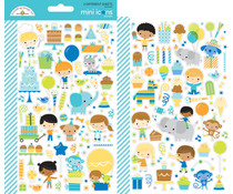 Doodlebug Design Party Time Mini Icons Stickers (6645)