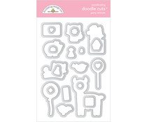 Doodlebug Design Party Animals - Girl Doodle Cuts (6649)