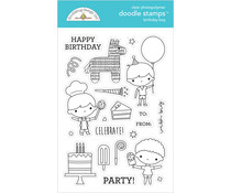 Doodlebug Design Birthday Boy Doodle Stamps (6650)