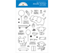 Doodlebug Design Party Animals - Boy Doodle Stamps (6652)