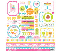 Doodlebug Design Hey Cupcake This & That Stickers (6661)