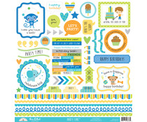 Doodlebug Design Party Time This & That Stickers (6663)