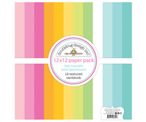 Doodlebug Design Hey Cupcake 12x12 Inch Textured Cardstock Paper Pack (6694)
