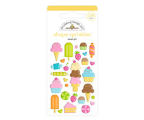 Doodlebug Design Sweet Girl Shape Sprinkles (28pcs) (6623)