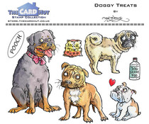 The Card Hut Doggy Treats Clear Stamps (MBPDT)