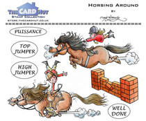 The Card Hut Horsing Around Clear Stamps (MBPHA)