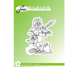 By Lene Funny Cleaning Lady 2 Clear Stamps (BLS1136)
