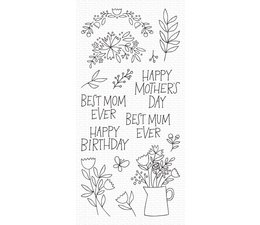 My Favorite Things Mother's Day Bouquet Clear Stamps (CS-470)