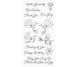 My Favorite Things Happy Hummingbirds Clear Stamps (CS-473)