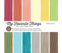 My Favorite Things Woodgrain Whimsy 6x6 Inch Paper Pad (EP-62)