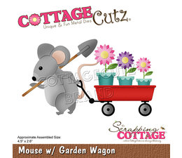 Scrapping Cottage Mouse with Garden Wagon (CC-751)