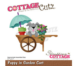 Scrapping Cottage Puppy In Garden Cart (CC-755)