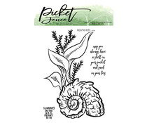 Picket Fence Studios Nautilus Shell Scene Clear Stamps (OC-116)