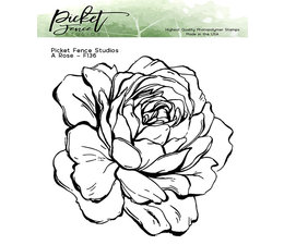 Picket Fence Studios A Rose Clear Stamps (F-136)