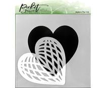 Picket Fence Studios Spliced Heart Stencil (SC-166)