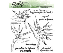 Picket Fence Studios Bird of Paradise Flowers Clear Stamps (F-138)