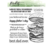 Picket Fence Studios Dad's Day Clear Stamps (BB-142)