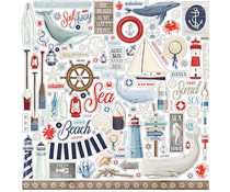 Carta Bella By The Sea 12x12 Inch Element Sticker (CBBS120014)