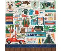 Carta Bella Summer Camp 12x12 Inch Element Sticker (CBSC119014)