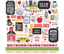 Echo Park School Rules 12x12 Inch Element Sticker (SCR215014)