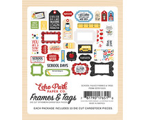 Echo Park School Rules Frames & Tags (SCR215025)