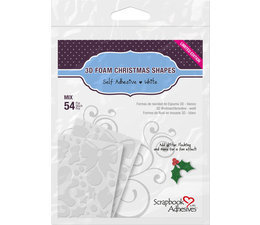Scrapbook Adhesives 3D Foam Christmas Shapes (54pcs) (01217)