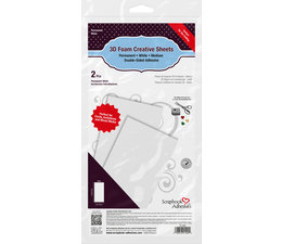 Scrapbook Adhesives 3D Foam Creative Sheets Medium White (2pcs) (01400)