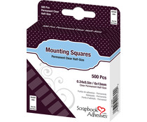 Scrapbook Adhesives Mounting Squares Clear (500pcs) (01602)