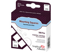 Scrapbook Adhesives Mounting Squares Repositionable White (500pcs) (01605)